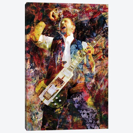 "Volbeat ""Heaven Nor Hell"" Canvas Print #RCM218} by Rockchromatic Canvas Print"