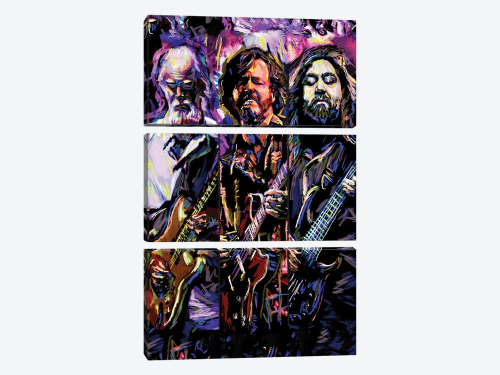 "Widespread Panic ""Travelin' Light"" by Rockchromatic 3-piece Canvas Art Print"