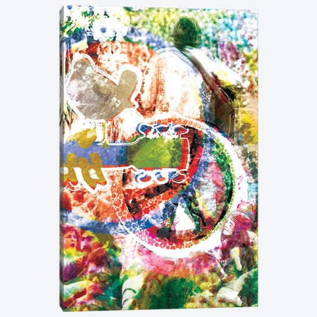 """Woodstock """"3 Days Of Peace And Music"""" Canvas Print #RCM222} by Rockchromatic Canvas Artwork"""