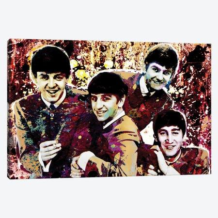 "The Beatles ""Hard Days Night"" Canvas Print #RCM89} by Rockchromatic Canvas Wall Art"