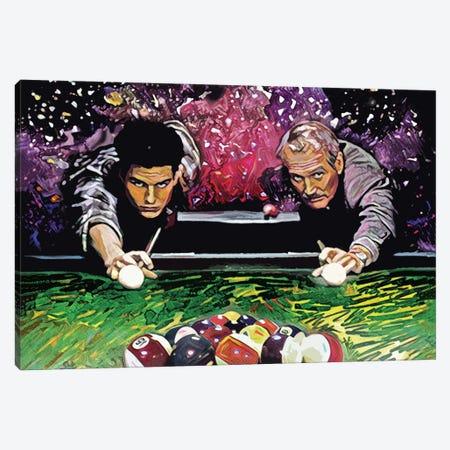 "The Color Of Money - Tom Cruise & Paul Newman ""Nine Ball"" Canvas Print #RCM90} by Rockchromatic Canvas Print"