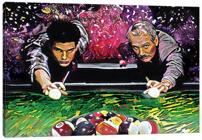 "The Color Of Money - Tom Cruise & Paul Newman ""Nine Ball"" Canvas Art Print"