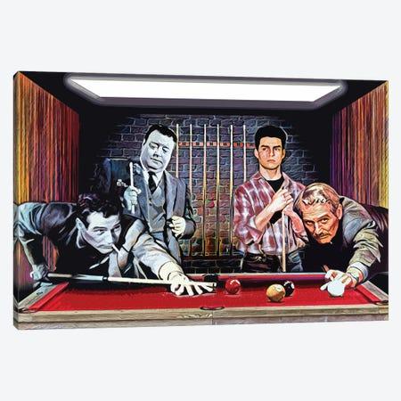 "The Color Of Money - Tom Cruise & Paul Newman ""Fast Eddie"" Canvas Print #RCM91} by Rockchromatic Art Print"