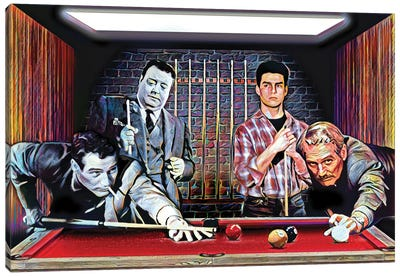 """The Color Of Money - Tom Cruise & Paul Newman """"Fast Eddie"""" Canvas Art Print"""