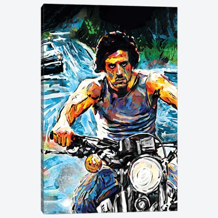 """Rambo - Sylvester Stallone """"First Blood"""" Canvas Print #RCM92} by Rockchromatic Canvas Art Print"""