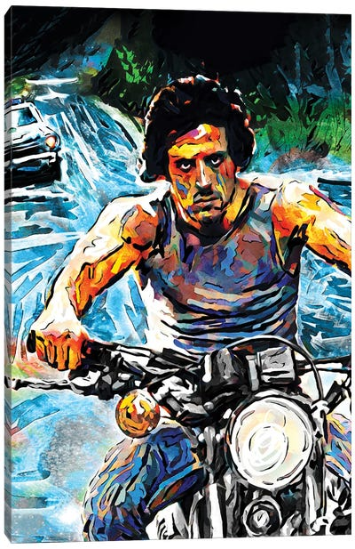 """Rambo - Sylvester Stallone """"First Blood"""" Canvas Art Print"""
