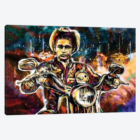 """James Dean """"Rebel Without A Cause"""" Canvas Print #RCM94} by Rockchromatic Canvas Wall Art"""