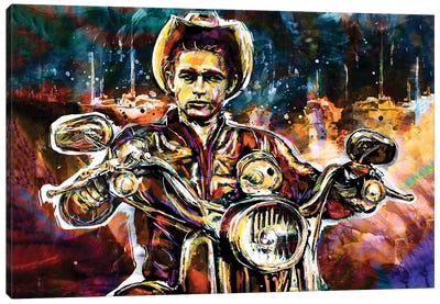 """James Dean """"Rebel Without A Cause"""" Canvas Art Print"""