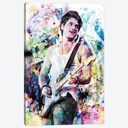 "John Mayer ""Gravity"" Canvas Print #RCM95} by Rockchromatic Canvas Wall Art"