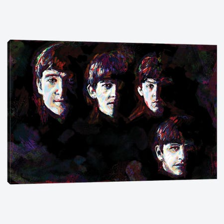"The Beatles ""I Saw Her Standing There"" Canvas Print #RCM97} by Rockchromatic Canvas Artwork"