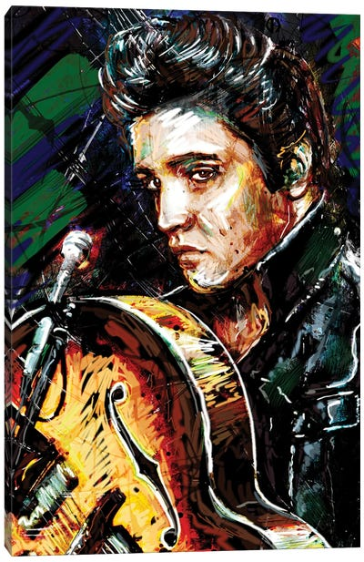 "Elvis Presley ""Hound Dog"" Canvas Art Print"