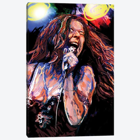 "Janis Joplin ""Piece Of My Heart"" Canvas Print #RCM99} by Rockchromatic Canvas Art Print"