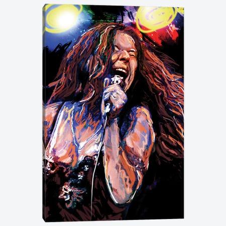 "Janis Joplin ""Piece Of My Heart"" Canvas Print #RCM99} by Rockchromatic Canvas Art Print"