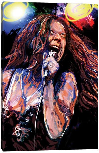 "Janis Joplin ""Piece Of My Heart"" Canvas Art Print"