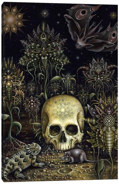 Cemetery Flowers Canvas Art Print