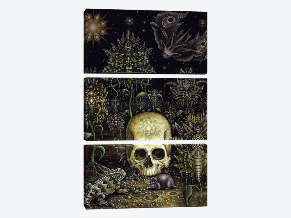 Cemetery Flowers by R.S. Connett 3-piece Art Print
