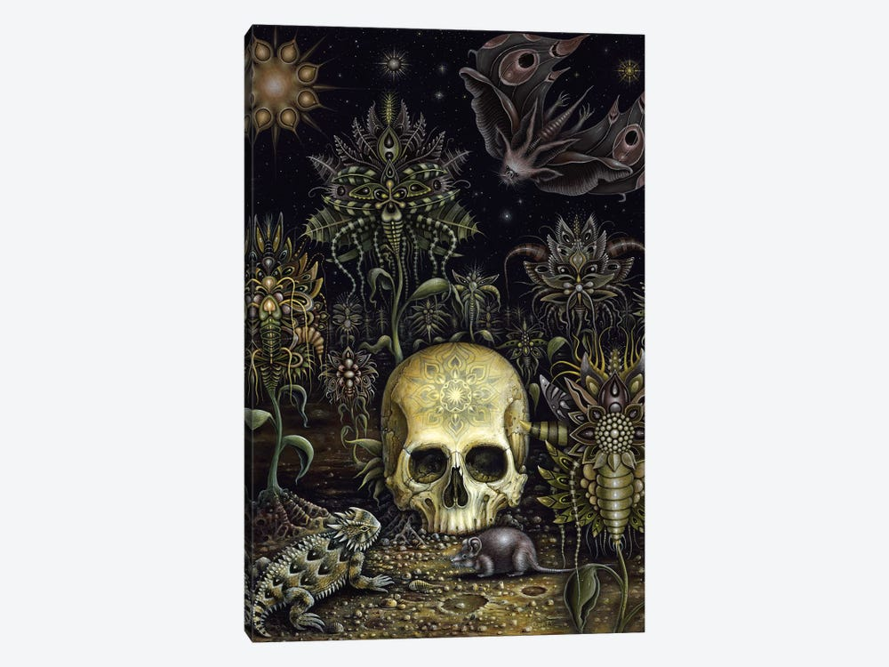 Cemetery Flowers by R.S. Connett 1-piece Canvas Art Print