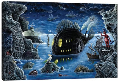 The Night Trawler (Blue Version) Canvas Art Print