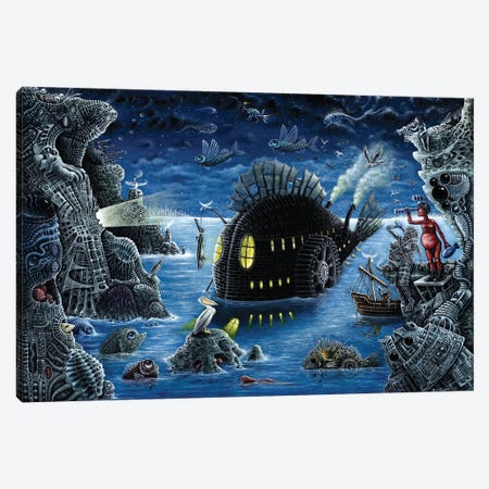 The Night Trawler (Blue Version) Canvas Print #RCN36} by R.S. Connett Canvas Art Print