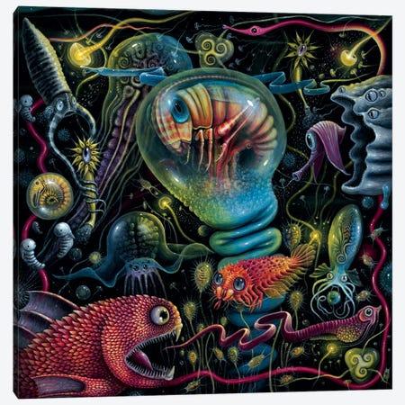 Creatures Of A Luminescent Ocean Canvas Print #RCN3} by R.S. Connett Canvas Wall Art