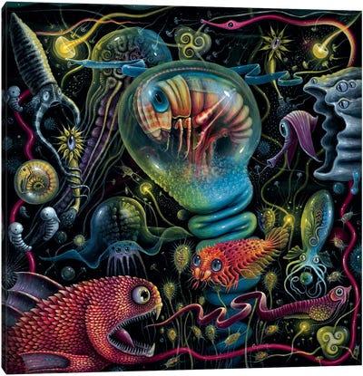 Creatures Of A Luminescent Ocean Canvas Art Print