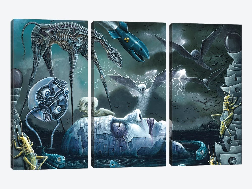 Dreams And Nightmares by R.S. Connett 3-piece Canvas Artwork