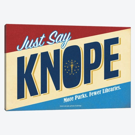Knope Campaign Poster Canvas Print #RCS13} by Ross Coskrey Art Print