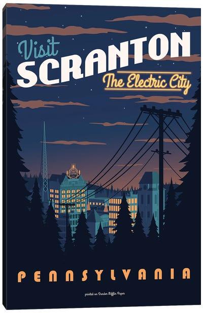 Scranton Travel Poster Canvas Art Print
