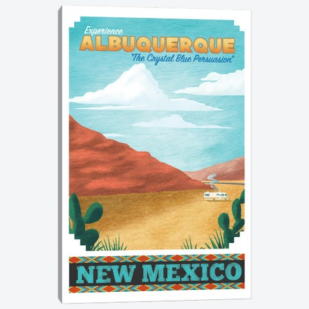 Albuquerque Travel Poster Canvas Print #RCS7} by Ross Coskrey Canvas Print