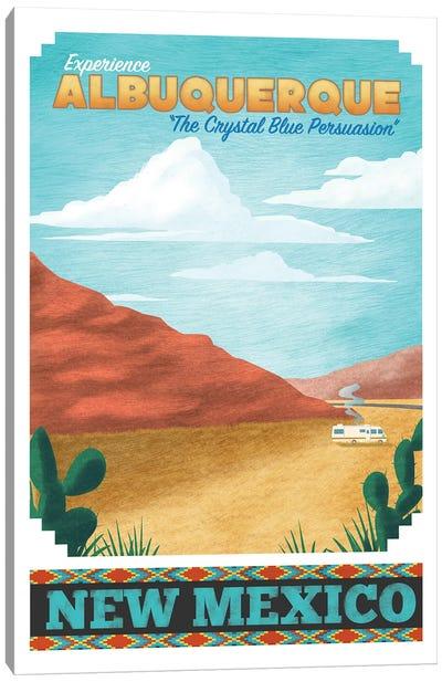 Albuquerque Travel Poster Canvas Art Print