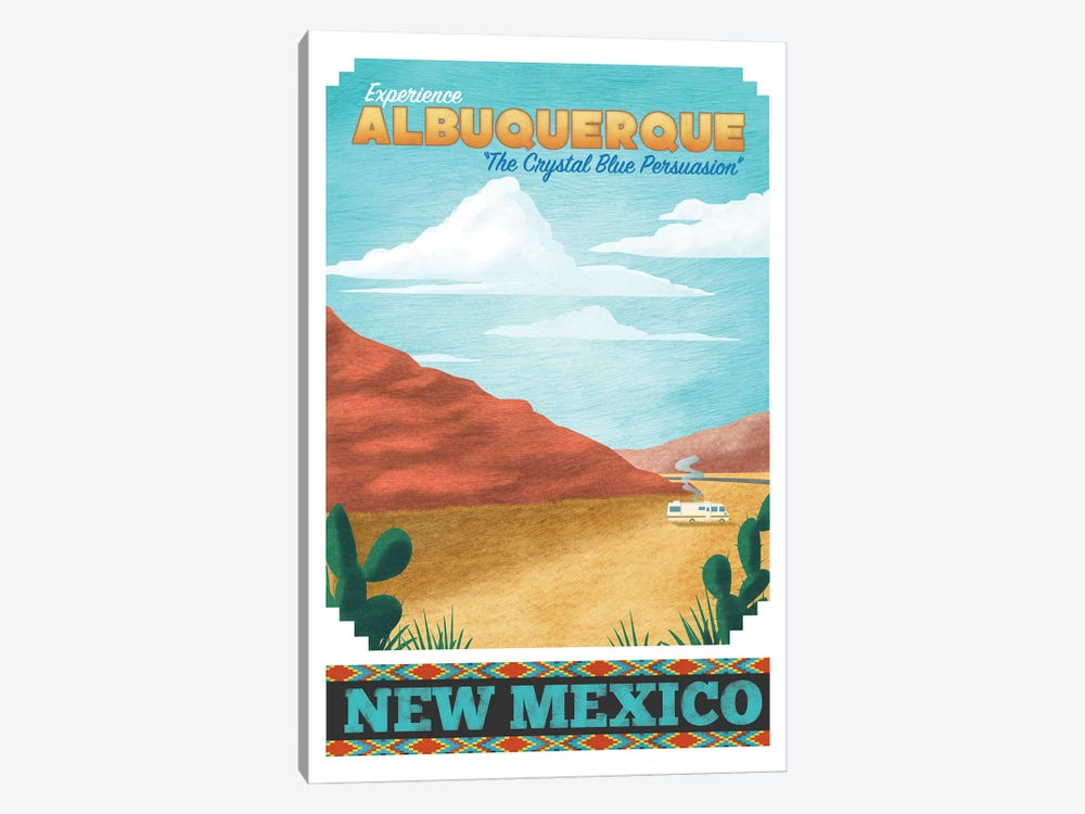 Albuquerque Travel Poster by Ross Coskrey 1-piece Canvas Print
