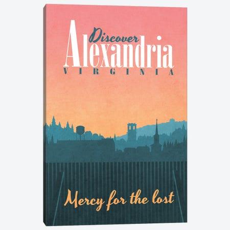 Alexandria Travel Poster Canvas Print #RCS8} by Ross Coskrey Canvas Artwork