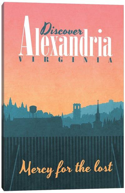 Alexandria Travel Poster Canvas Art Print