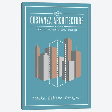 Costanza Architecture Canvas Print #RCS9} by Ross Coskrey Canvas Art