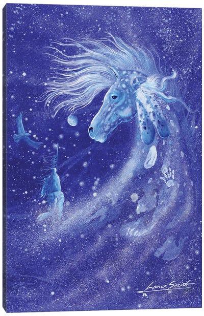 Blue Spirit Horse Canvas Art Print