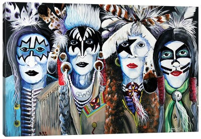 Native Kiss Canvas Art Print
