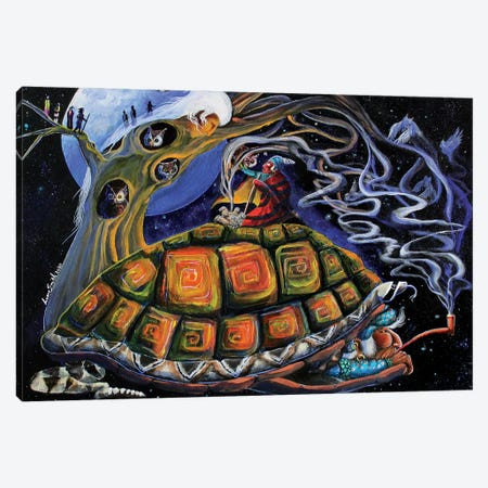 The Conjuring Canvas Print #RDB24} by Red Bird Smith Art Art Print