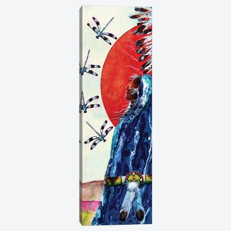 Twin Dragon I Canvas Print #RDB30} by Red Bird Smith Art Canvas Print