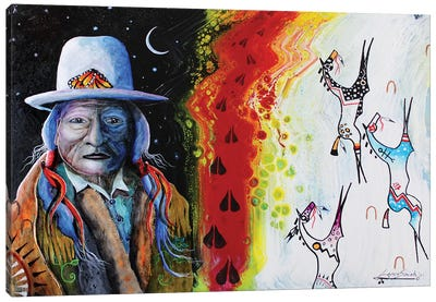 Holy Trinity Sitting Bull Canvas Art Print