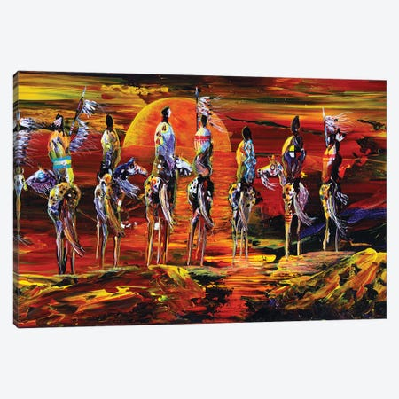 Sundogs Canvas Print #RDB5} by Red Bird Smith Art Canvas Art
