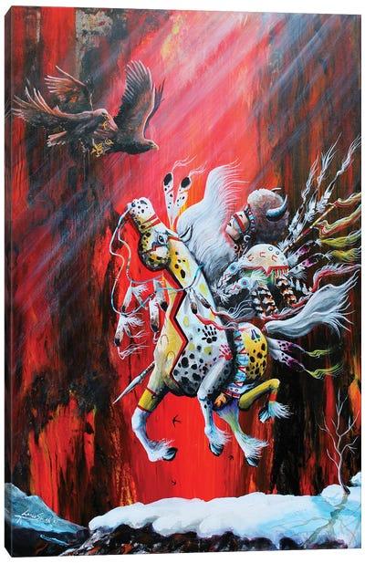 Red Night Canvas Art Print