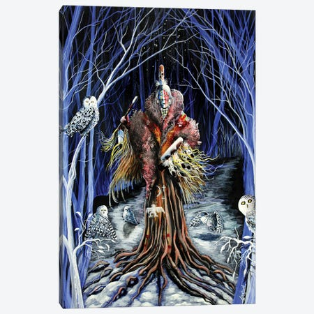 Silent Wisdom Canvas Print #RDB6} by Red Bird Smith Art Canvas Art