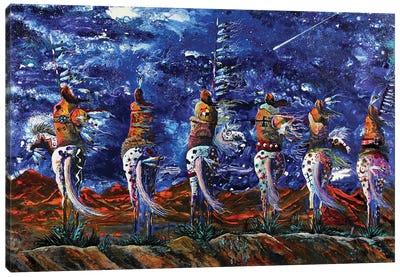 Blue Star Night Canvas Art Print