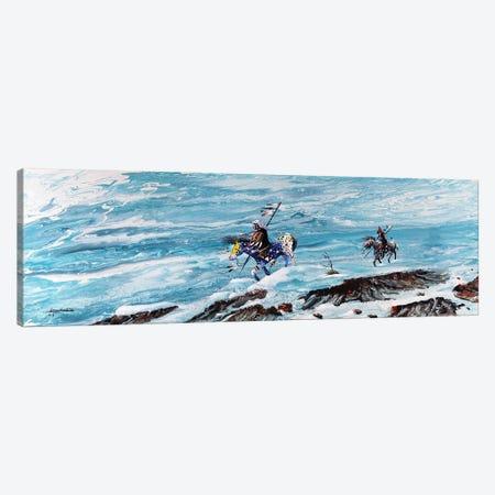 Snow Walkers Canvas Print #RDB8} by Red Bird Smith Art Art Print