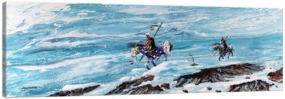 Snow Walkers Canvas Art Print