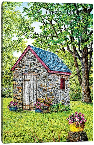 Spring at the Springhouse Canvas Art Print