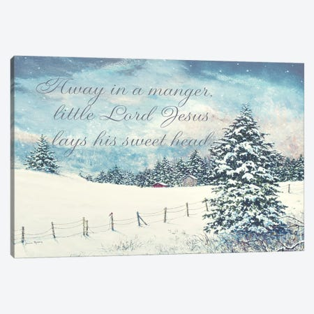 Away in a Manger Canvas Print #RDD19} by James Redding Canvas Art Print