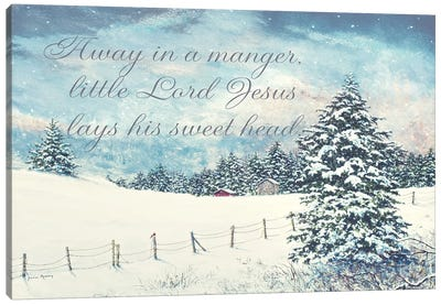 Away in a Manger Canvas Art Print