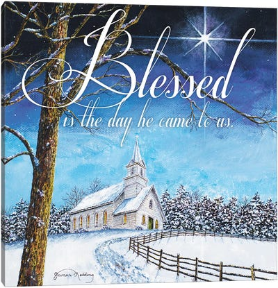 Blessed Church Canvas Art Print