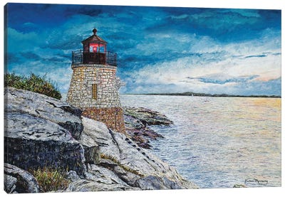 Castle Bay Light Canvas Art Print